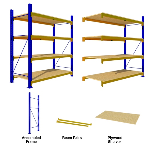 MEDIUM DUTY 4 Plywood SHELVES