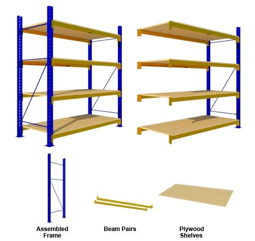 MEDIUM DUTY 4 Plywood SHELVES