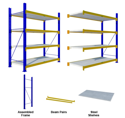 MEDIUM DUTY 4 Steel SHELVES